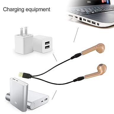 Bluetooth auriculares, handingsm Bluetooth V4.2 inalámbrico auriculares cancelación de ruido auriculares estéreo in-Ear auriculares con micrófono para ...