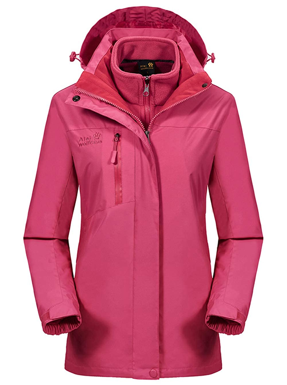 J-SUN-7 Couple Mountain Jacket Fleece Windproof Ski Jacket 86009-1
