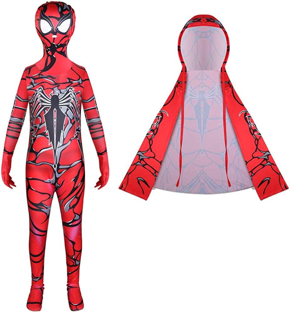 ZhouL Costumes for Boys Toddler Halloween Jumpsuit Party Cosplay Bodysuit with Cloak 3-8Y