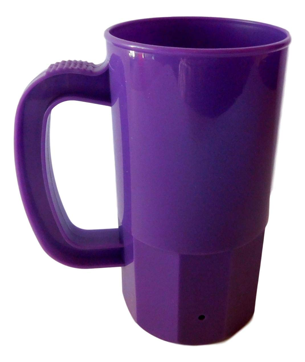 10 Small Mix of Colors Cups-Mugs, 2 ea Purple, Pink, Green, Yellow Orange. Holds 14 Ounces