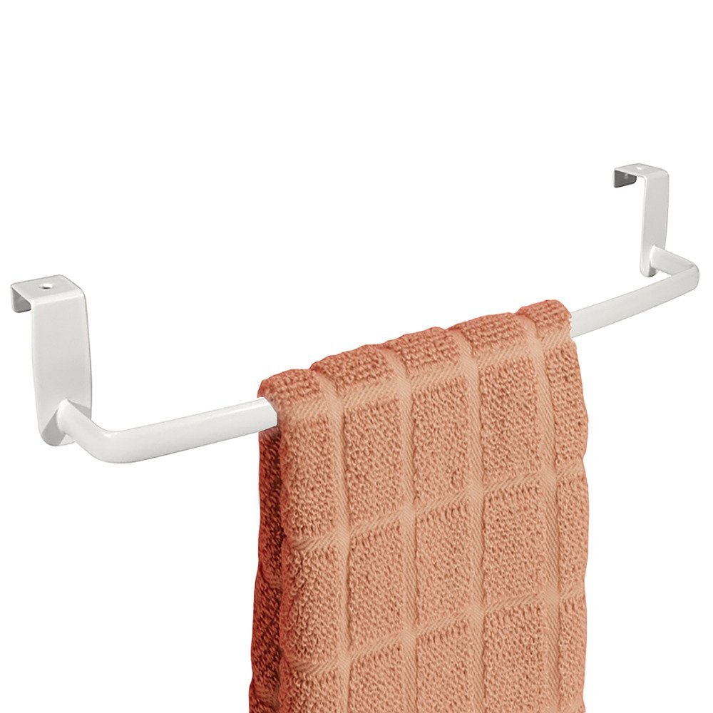 InterDesign Axis Colgador de toallas | Práctico organizador de toallas | Toallero de baño y cocina para puertas | Metal blanco: Amazon.es: Hogar