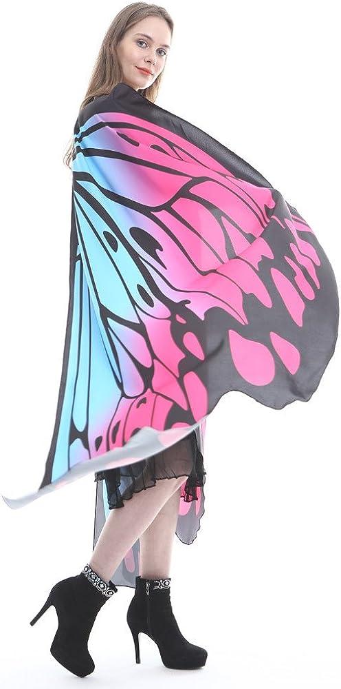 Scialle Ali di Farfalla Vestiti per Donna Uomo Bambina Bambini Abbigliamento per Cerimonia Festa Carnevale SUDADY Costume da Travestimento