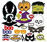 Halloween Photo Props, Complete 60 Prop Pieces for Party Photography and Photobooth Pictures - Fun DIY Kit by Jolly Jon Products