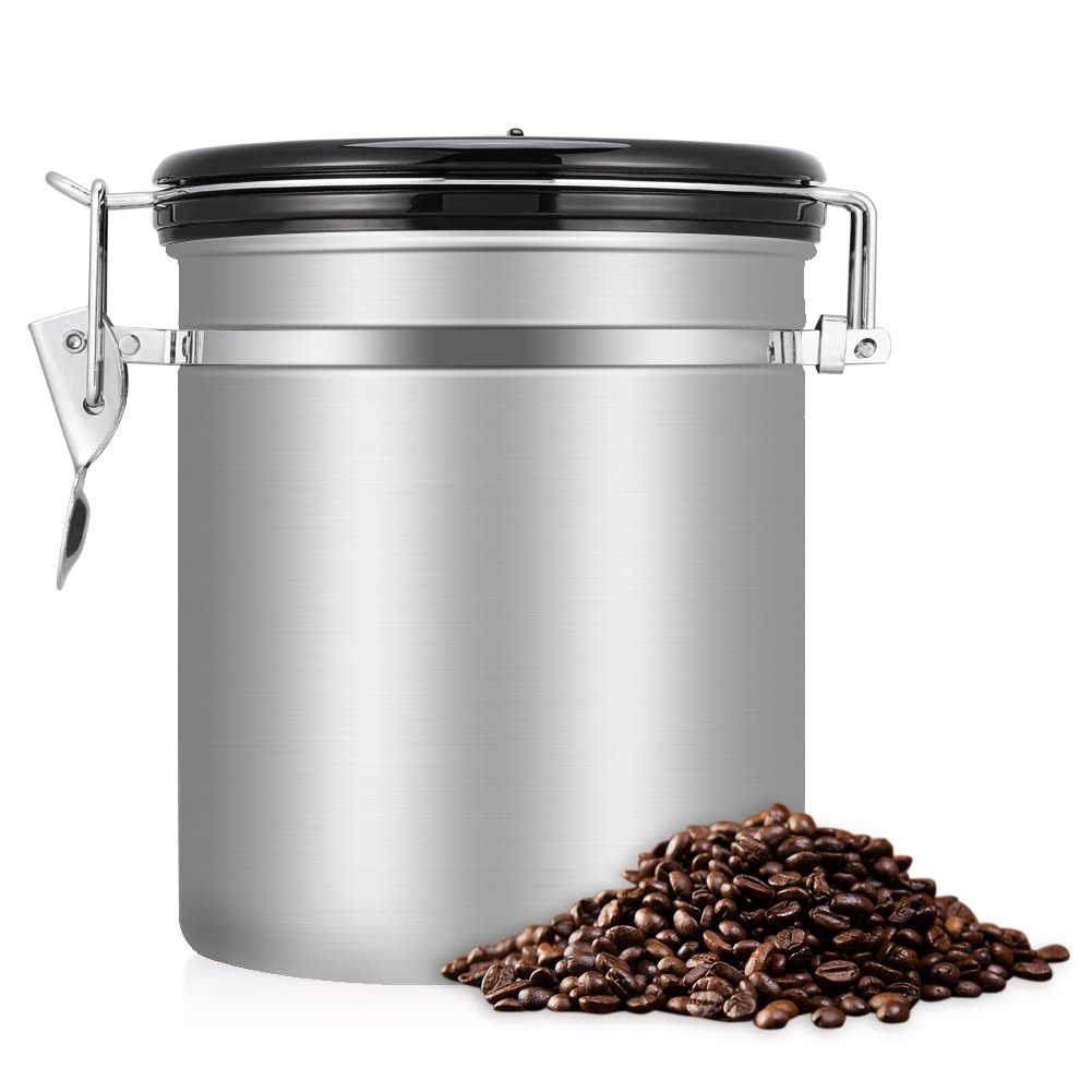 Coffee Container AirtightStainless Steel Vacuum Sealed Coffee