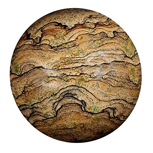 Satyamani Picture Jasper Gemstone Sphere (201 gm-300 gm) by Satyamani