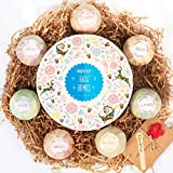 Bath Bombs Gift Set Bath Balls Kit for Women, Men, for Kids,Girls, Mom, Wife, Christmas or Birthdays. Natural Organic Essential Oil Relax Spa Set 3.5 OZ (7 Different Scents)