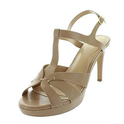 93d8349be055 Thalia Sodi Womens Verrda Faux Leather Platform Sandals Beige 11 Medium  (B