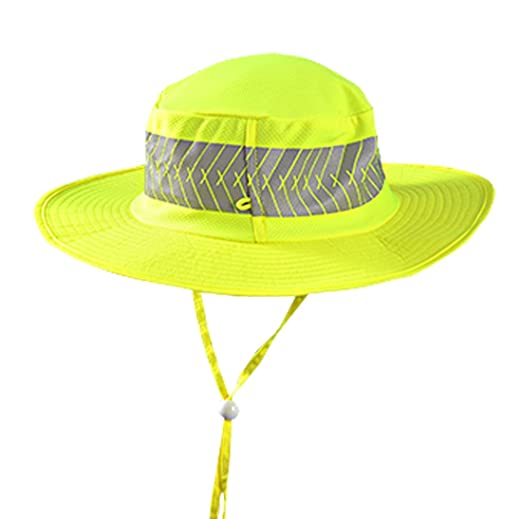 6b244597 OccuNomix Tuff & Dry Wicking & Cooling Hi Viz Yellow Ranger Cap w/Sunglass  Holders