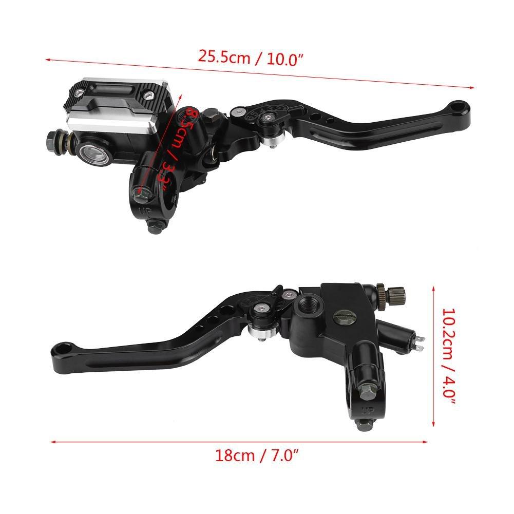 1 Pair 7//8 Brake Clutch Master Cylinder Reservoir Levers Left /& Right Set 22mm Universal Motorcycle Handlebar Master Cylinder Levers