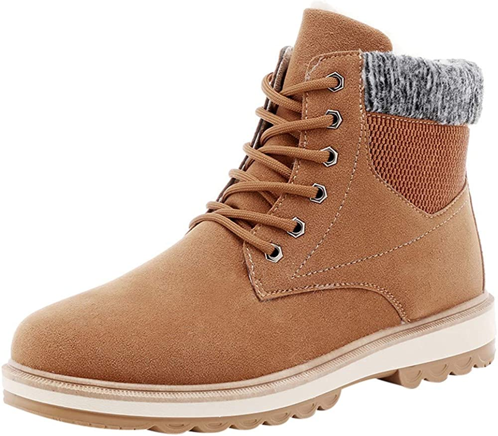 Belloc Men Winter Warm High-Top Shoes Casual Comfortable Daily Shoes Snow Boots