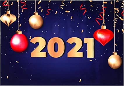 Amosfun 2021 Cenários de Fotografia de Ano Novo 2021 Ano Novo Fundo de  Fotos Pano de Fundo de Parede de Festa de Ano Novo: Amazon.com.br:  Eletrônicos