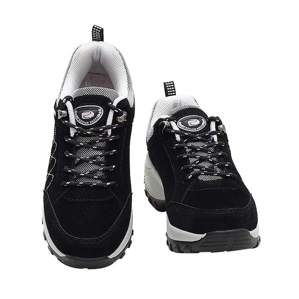 BBestseller-Zapatos deportivos mujer Aumento de los zapatos de cuero nubuck casual zapatos plataforma sacudida de los deportes zapatillas running: ...