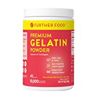 Further Food Premium Gelatin Powder | Grass-Fed, Pasture-Raised, Non-GMO, Paleo, Keto | Unflavored, Excellent Source of Collagen | Pure Beef Gelatin Powder (16 oz.)