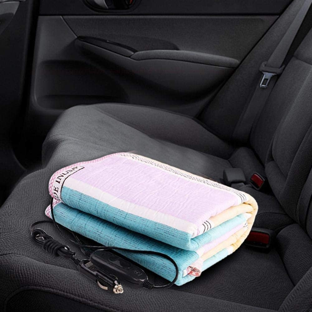 Travel Camping Picnic 150 70cm hinffinity Electric Blanket 12V//24V Car Heated Throw 50W Waterproof heating pad Heating Quilt Cushion Emergency Kits for Cold Weather