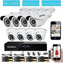 SEEKUL 8 CH DVR 1080P 2.0MP Bullet Outdoor Dome Indoor Night Vision Video Surveillance CCTV Security Camera System