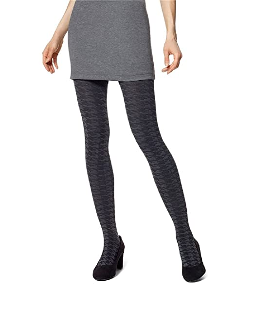 c578aa15e440b HUE Women's Houndstooth Sweater Tights at Amazon Women's Clothing store: