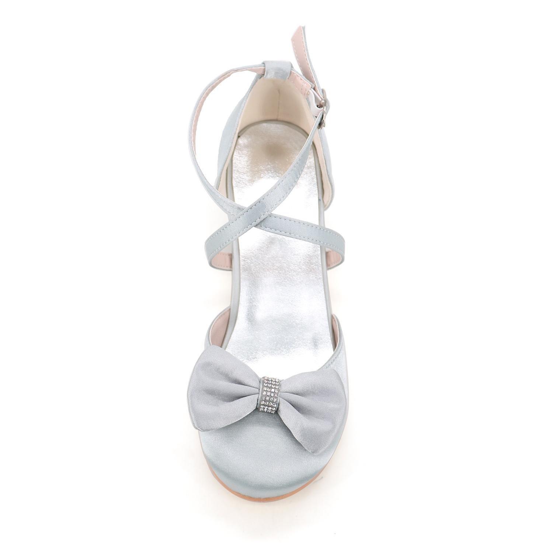 Chenxia Chaussures de Mariage pour Filles Chaussures Comfort Girl Glitter Summer Fall Party & Robe de Soirée Walking Comfort Girl Shoes, Purple, 25