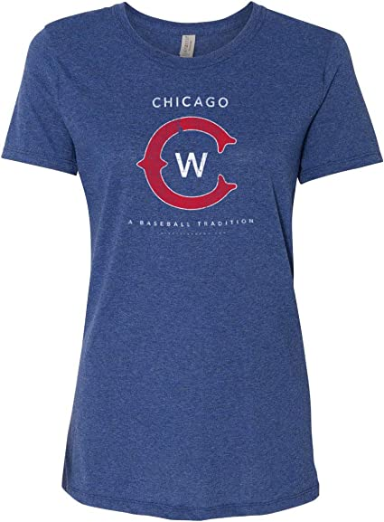 Soft Style Womens Chicago C Baseball T Shirt Vintage Distressed 36 and Oh