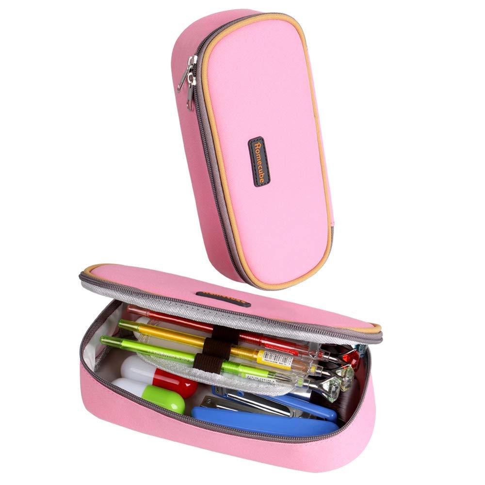 Estuche Escolar Homecube,Portalápices Plegable/ Artículo de papelería Ideal para Estudiantes Chicas (Color