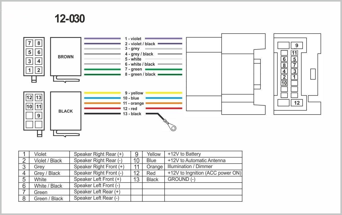 autostereo 12–030–Adaptador de radio, arnés estándar iso para mitsubishi 2007+ Coche ISO Radio Estéreo Cable de audio Autostereo TECH