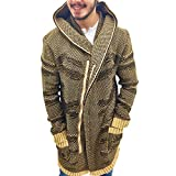 One in a Million Cotton/Acrylic, Zip Cardigan Mens Sweater (Large, Camel)