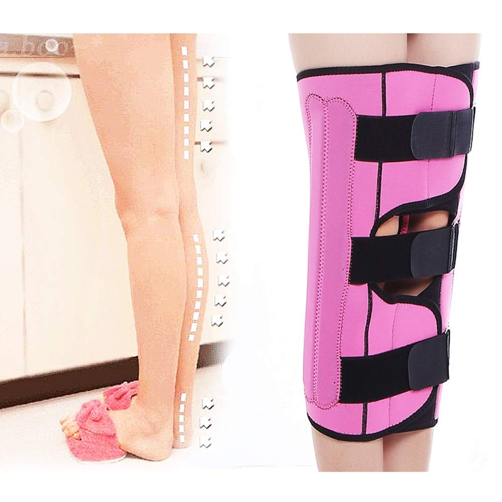 Leg Straightener Straps To Correct O/X Type Leg Correction Belt Band Beauty Leg Straighten Tape Bandage Adjustable Double Belt Strap Fixing (Color : Pink, Size : L) by Sharon (Image #2)