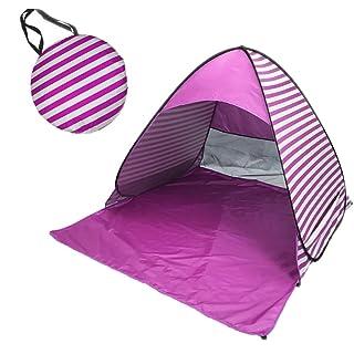 MISSMAO_FASHION2019 Tenda da Spiaggia Parasole Spiaggia Pop Up per 1-3 Posti,Protegge I Bambini dal Sole, Vento e Pioggia,Ottima per La Spiaggia o Il Parco