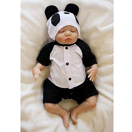 814bc2c84aec Amazon.com: My Super Star Reborn Lifelike Dolls Panda Suits Baby ...