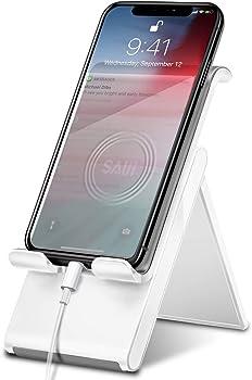 Saiji Foldable Desktop Phone Holder Cradle Dock