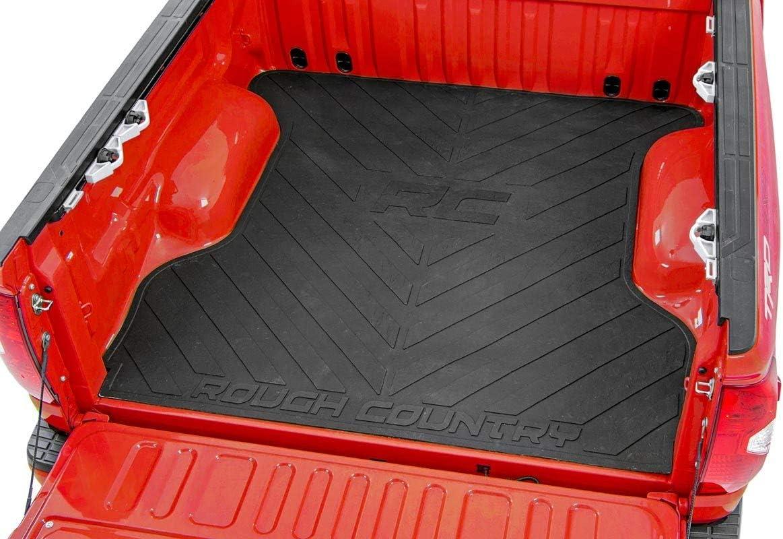 R/&L Racing Black Rubber Diamond Plate Truck Bed Trunk Floor Mat Carpet 07-17 Tundra 6.5//78