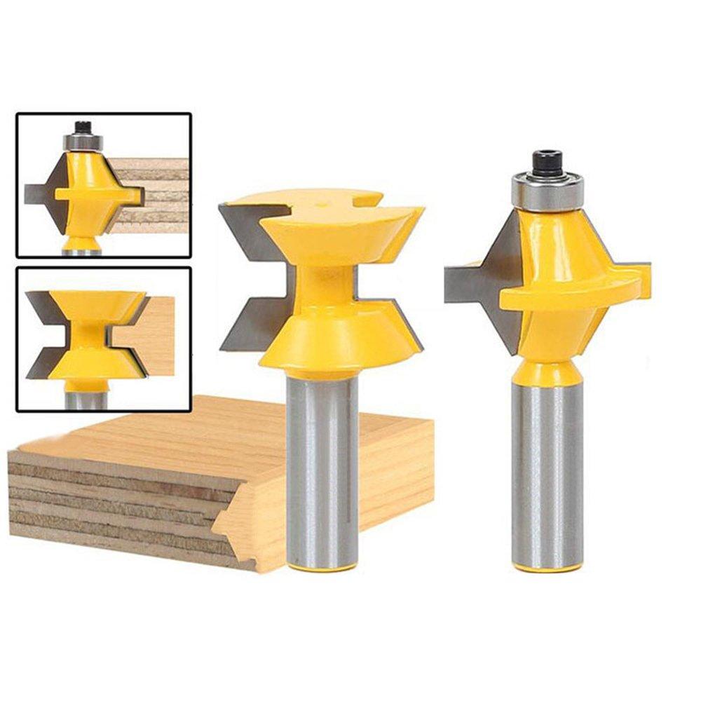 godbless Router bits 120° à rainurer Pour machine à gravure à rainure et à base de bois Schneider pour trimmmasc Sunshine (Lot de 2)