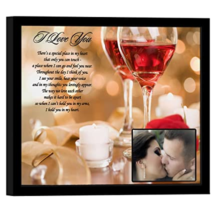 Romantic Anniversary Or Birthday Gift For Him Her With Love Poem In 8x10 Frame