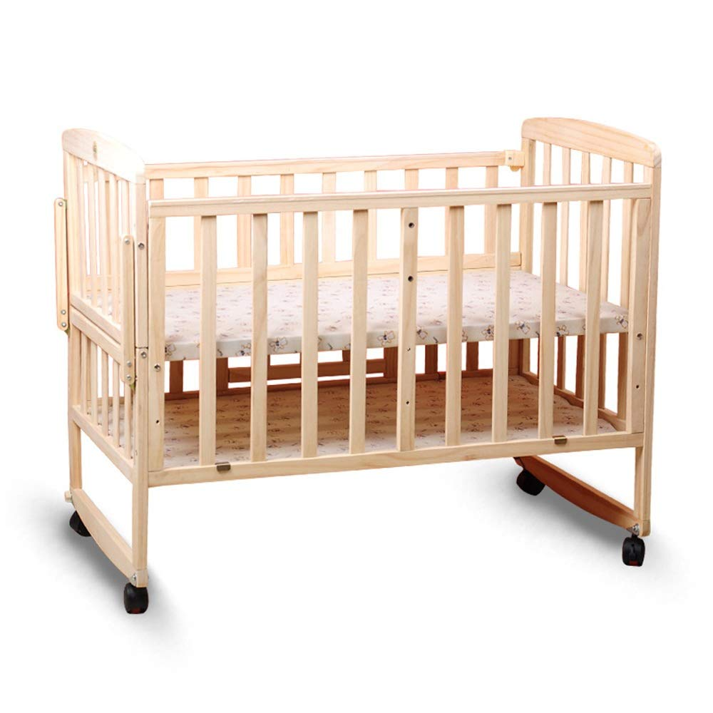 Baby Cot Unisex Baby Solid Wood Crib Without Paint 2-Tier Adjustable Height Variable Desk Cradle Multifunction Bed Suitable for Babies to Sleep A Good Gift for Your Baby by Jdeepued