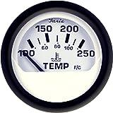 """Faria 2"""" Water Temperature Gauge (100-250F) - Euro White"""
