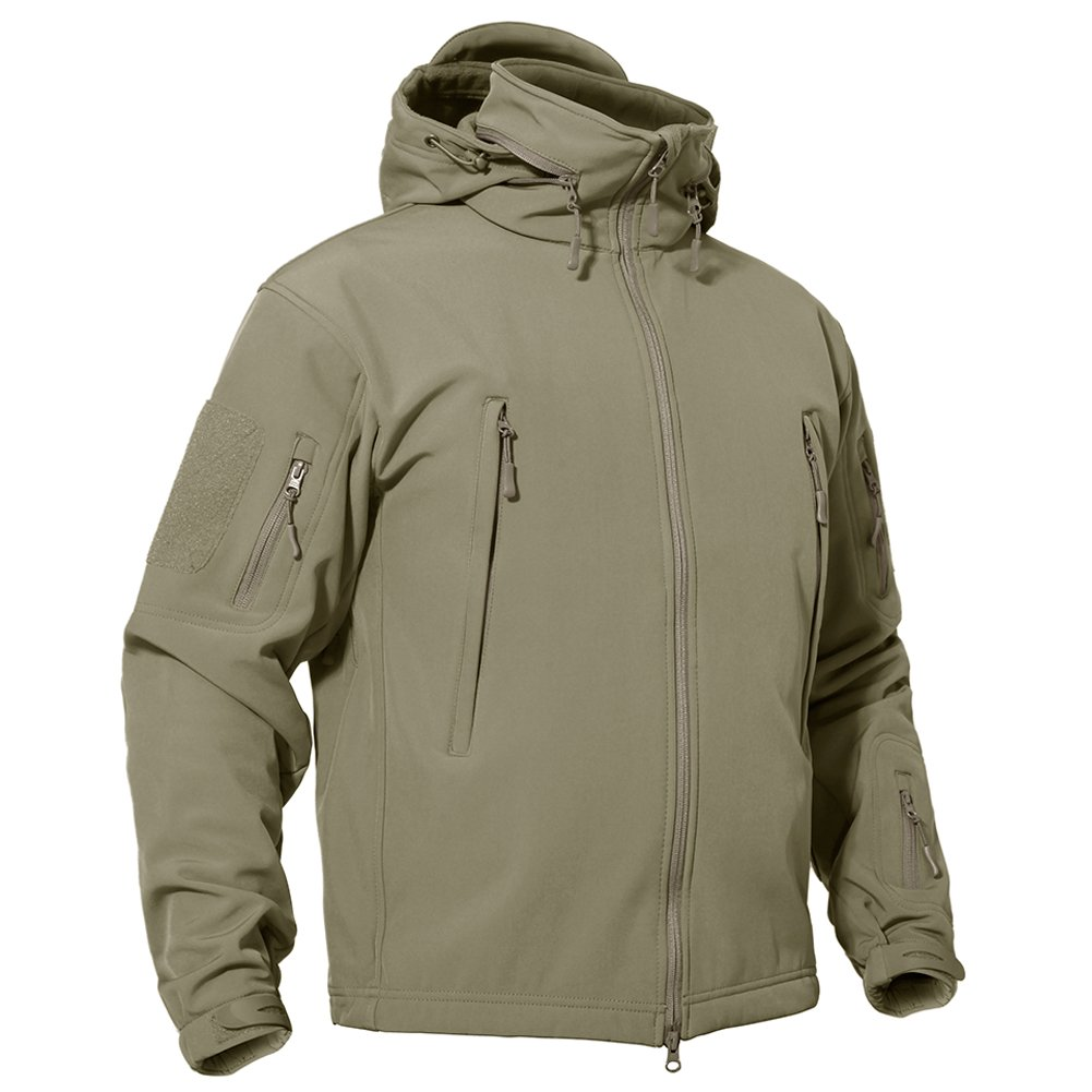 TACVASEN Men's Outdoor Vintage Classic Durable Military Tactical Jacket Coat Sand,US M(fit chest:35''-38'') by TACVASEN (Image #3)