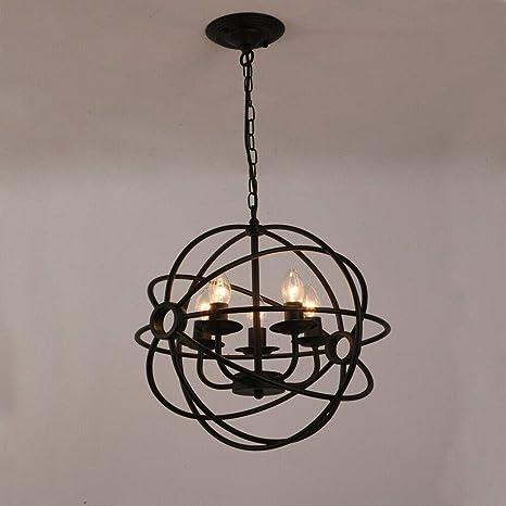 Lámpara de techo Senderpick, estilo industrial, retro, LED ...
