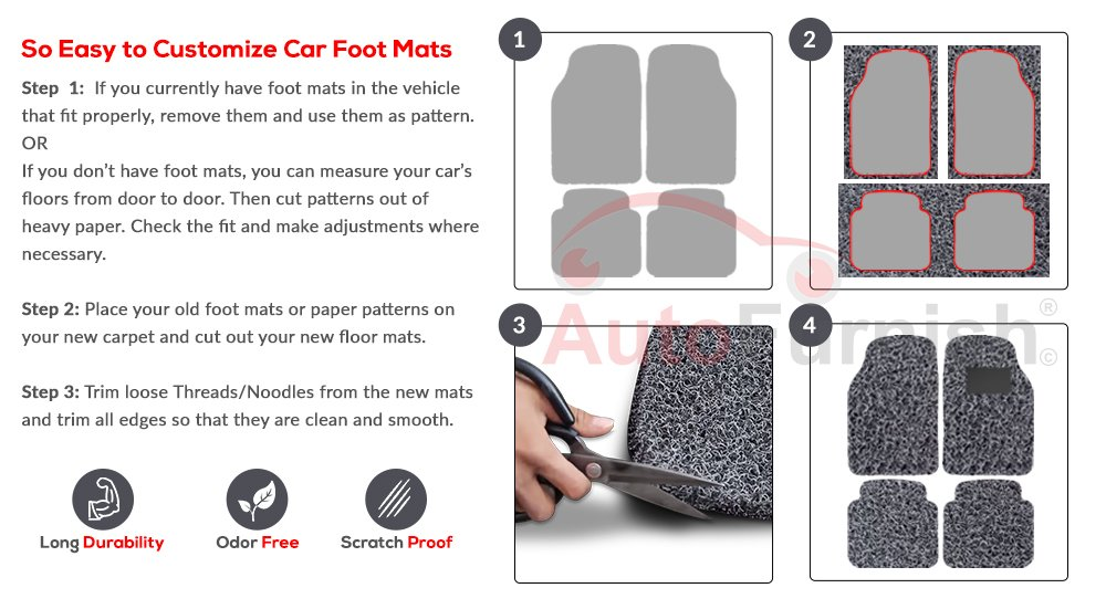 Autofurnish Affm500271 Universal Car Foot Mat Set Of 3 Black