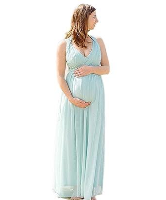 CoCogirls Damen V-Ausschnitt Chiffon Strand Mutterschaft Schwangeres ...