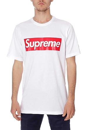 Supreme - Camiseta - para Hombre 03 Bianco X-Large: Amazon.es: Ropa y accesorios