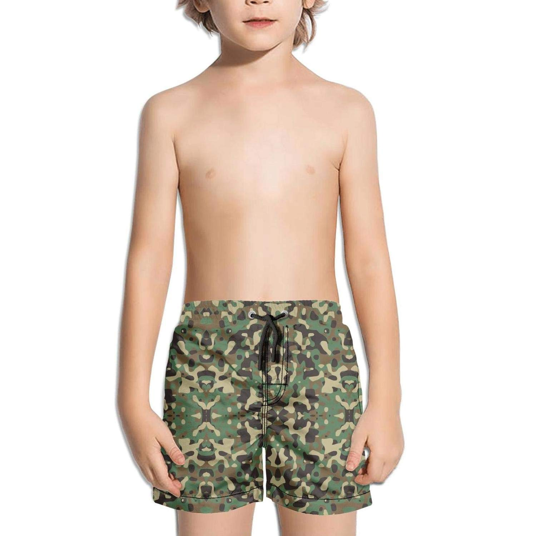 Camo Camouflage Beachwear Sporty Side Split Swim Shorts