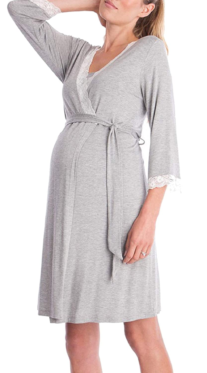 Semir Hospital Maternity Robe Labor Delivery Nursing Gown Hospital