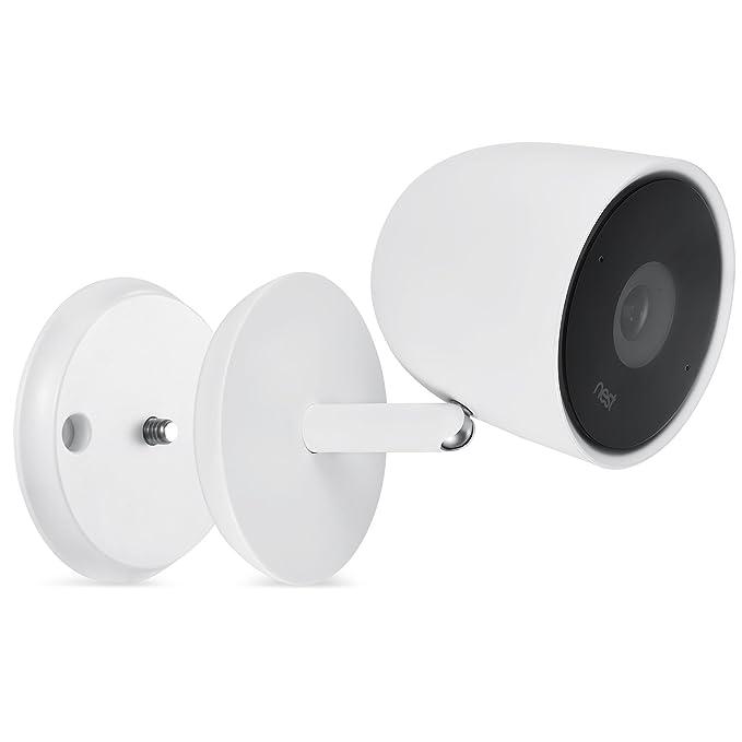 Wasserstein, Soporte de pared para cámara Nest Cam IQ con tornillos para cualquier pared y con un fuerte imán para poner en cualquier superficie metálica ...