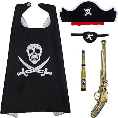 Amazon Com Cosweet Disfraz De Pirata Para Ninos Mascara De