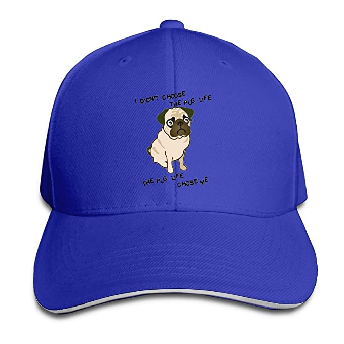 0650c890acb Amazon.com  Ws WellShopping The Pug Life.png Custom Sandwich Peaked ...