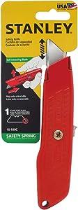 Stanley Interlock Safety Utility Knife w/Self-Retracting Round Point Blade, Orange