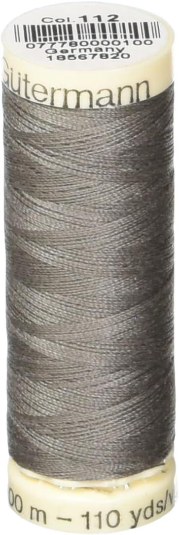 Gutermann 100P-112 Sew-All Thread 110 Yards-Grey
