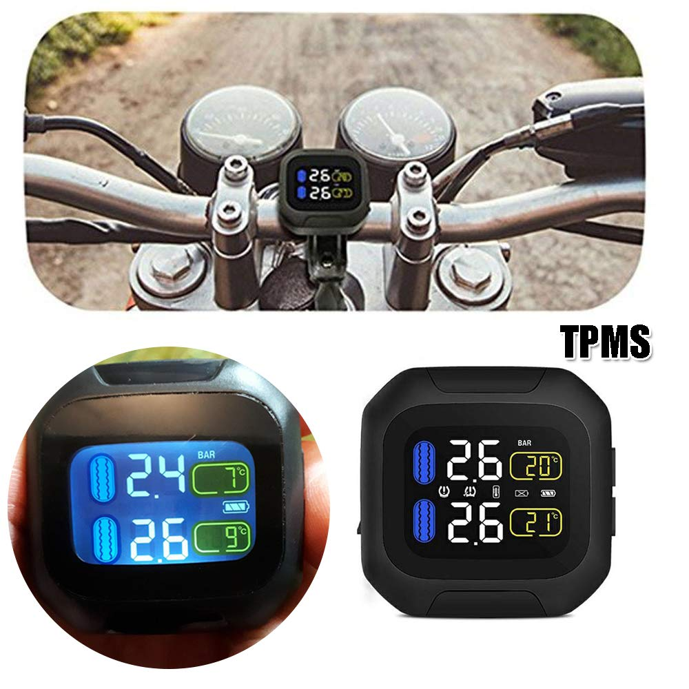 TPMS Reifendruckkontrollsystem TPMS Wireless Sensor f/ür Motorr/äder und Fahrr/äder TPMS Sensor Reifendruck pr/üfer TPMS Motorrad Reifendruckkontrollsystem Verbesserung der Fahrsicherheit