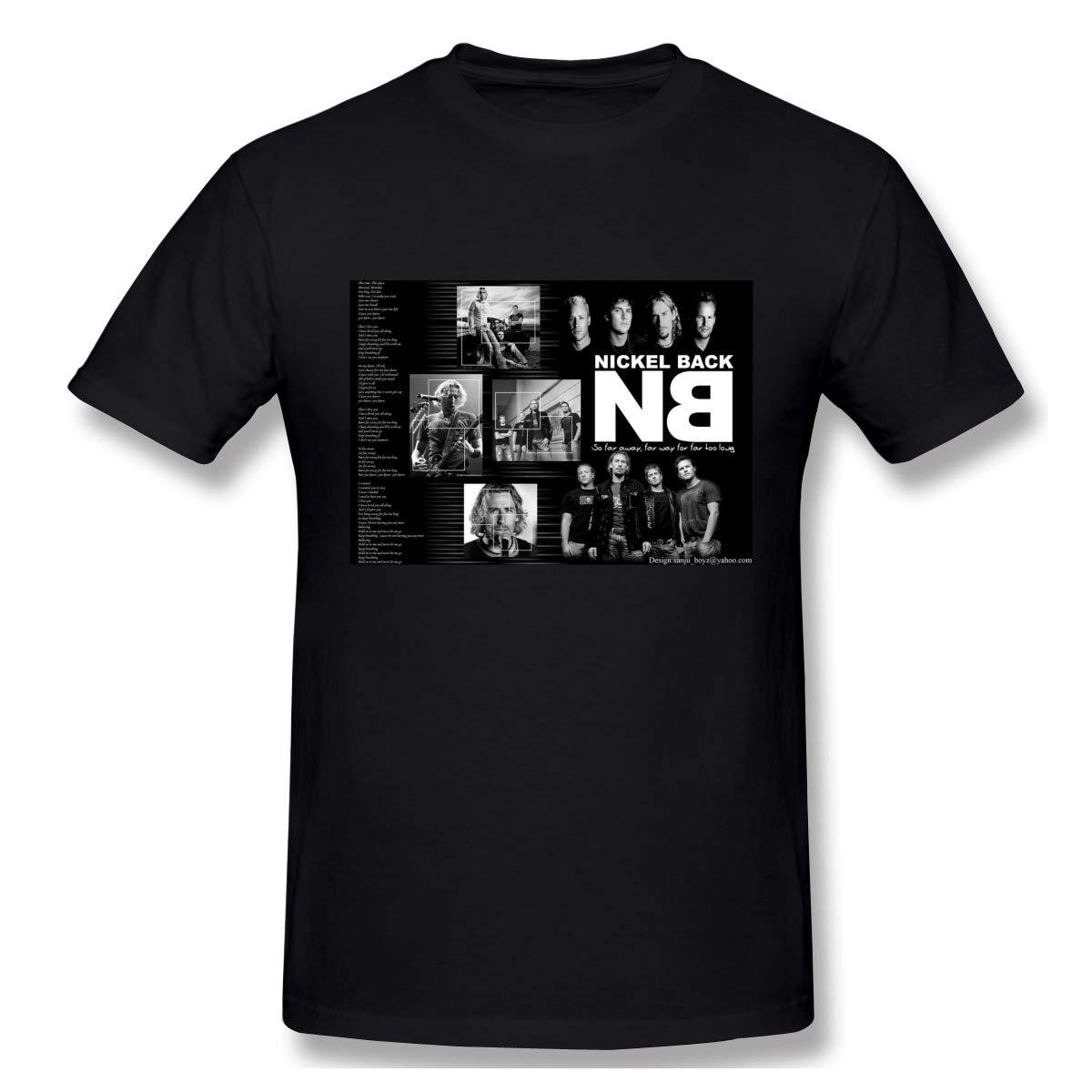 Logo Of Nickelback Casual Style Black Shirts Short Sleeve