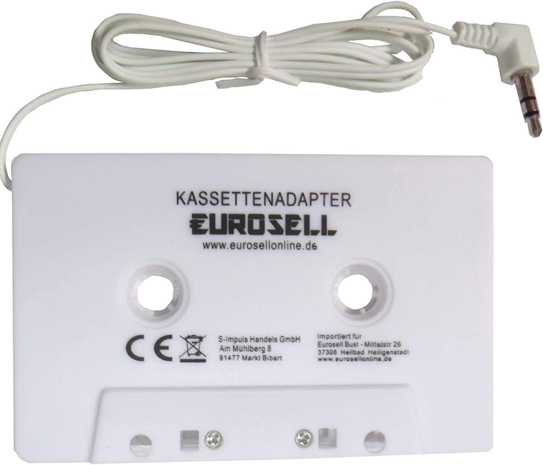 Eurosell Adapterkassette Kassette Adapter Kassettenadapter Weiss Für Auto Kfz Radio Autoradio 3 5 Mm Klinkenstecker Smartphone Iphone Tablet Mp3 Ipod Apple Iphone 3 4 5 6 6s Plus 7 8 8s X Ipad Auto
