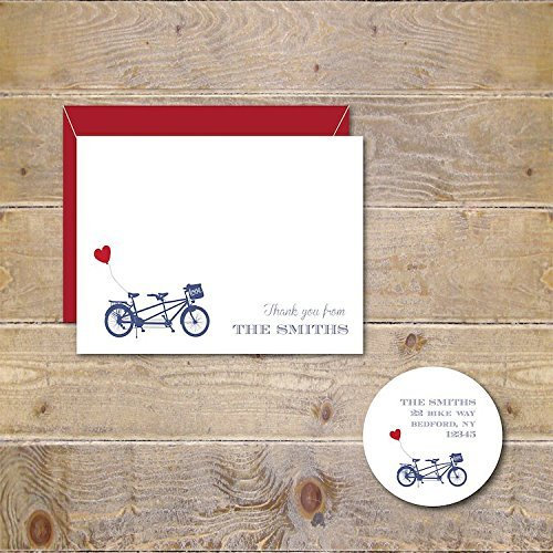 Amazon bicycle wedding thank you cards tandem bike cards bicycle wedding thank you cards tandem bike cards tandem bicycle bridal shower thank filmwisefo